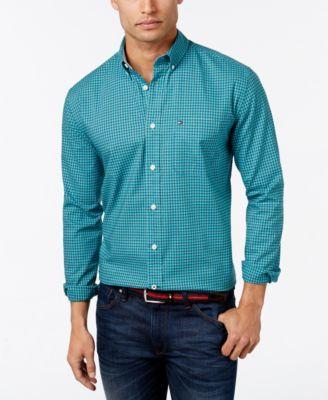 TOMMY HILFIGER Tommy Hilfiger Men'S Steinbeck Button-Down Check Shirt. #tommyhilfiger #cloth #down shirts