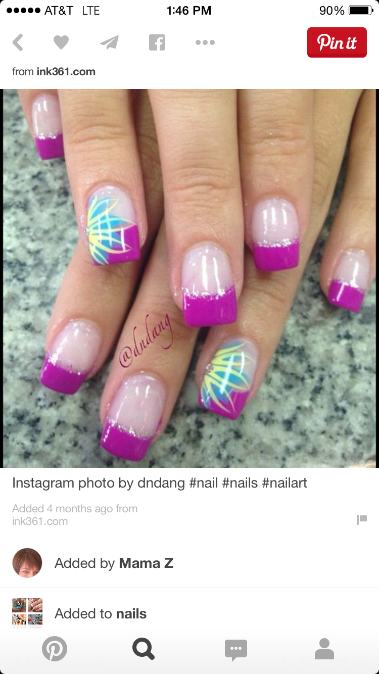 Pretty nail design nail art purple nail polish | nail designs ...