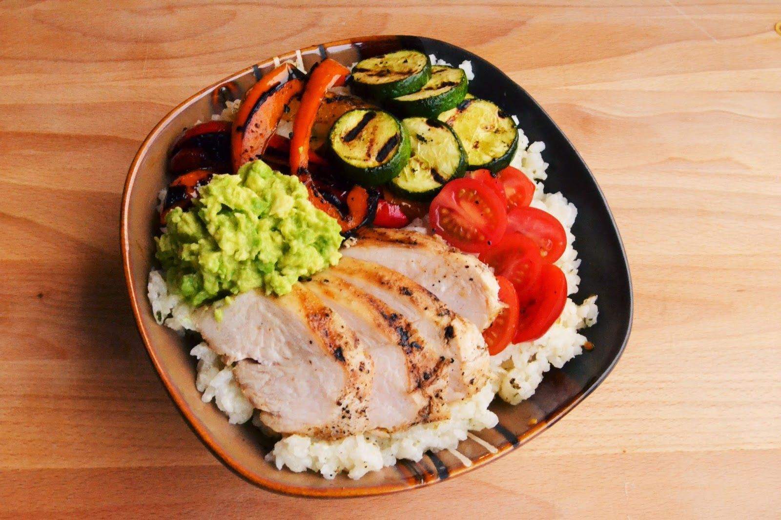 7kidsathome: Grilled Chicken and Vegetable Bowl with Parmesan Rice and Avocado #grilledchickenparmesan This #7kidsathome: Grilled Chicken and Vegetable Bowl with Parmesan Rice and Avocado is a good for your Breakfast made with awesome ingredients! Dairy, #Healthy, Gluten Free, grain free and paleo too!, Our #grilled chicken vegetables parmesan Recipes very delicious, we can try to make this #Grilled Garlic Parmesan Vegetables  Tone and Tighten recipes at home.Read More About This Recipe  Click h #grilledchickenparmesan