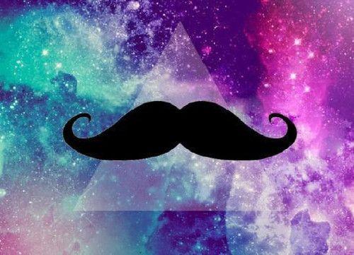 Mustache Galaxy And Moustache Image Mustache Wallpaper Cool Wallpapers Girly Cool Wallpapers For Girls