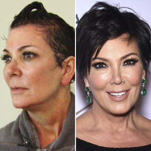 Kris Jenner Makeup Free Celebs Without Makeup Celebrities Before And After Jenner Makeup