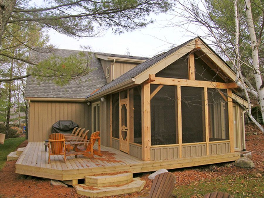 Timber frame exterior design normerica authentic timber for Timber frame screened porch