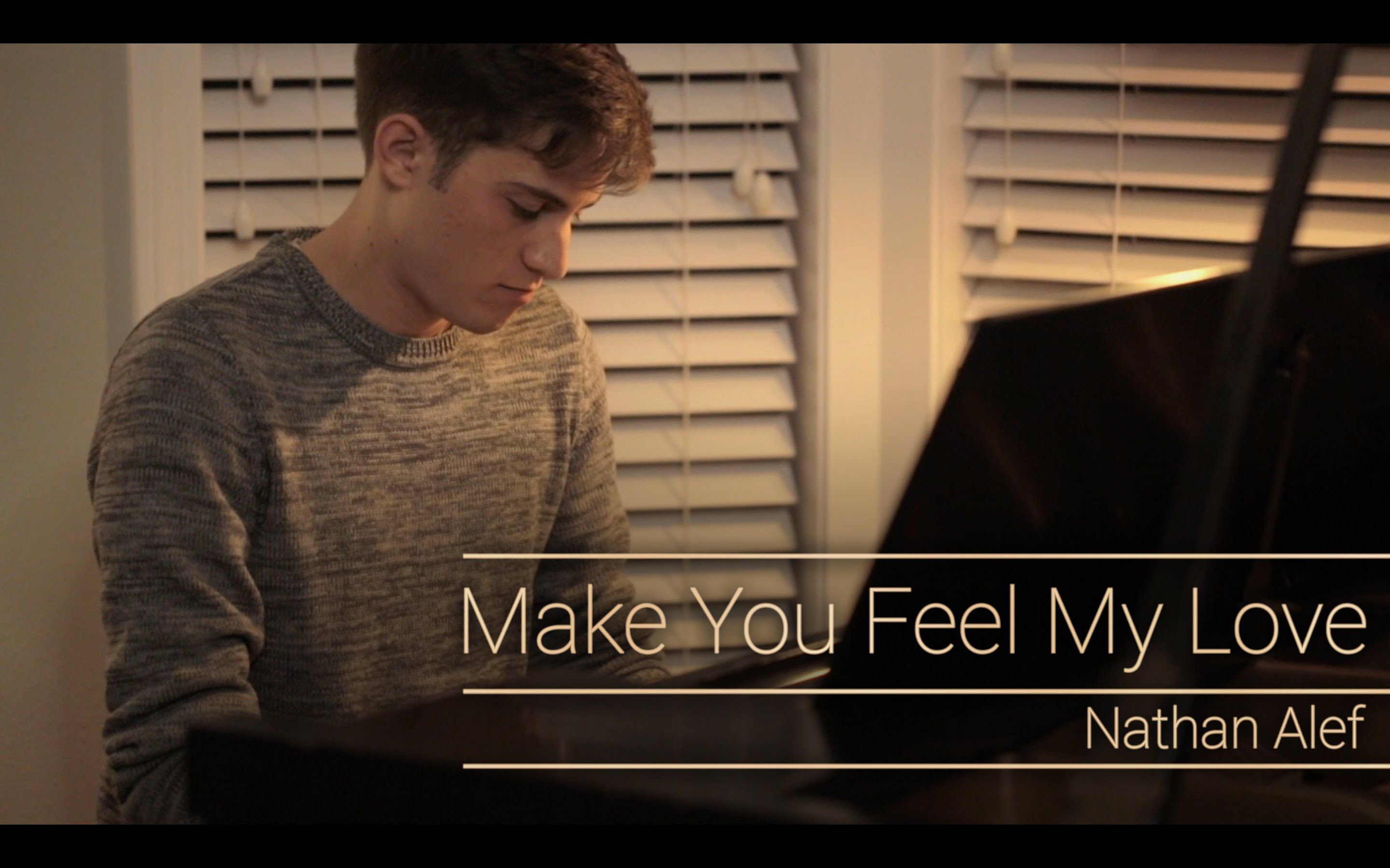 Make You Feel My Love Bob Dylan Adele Cover By Nathan Alef