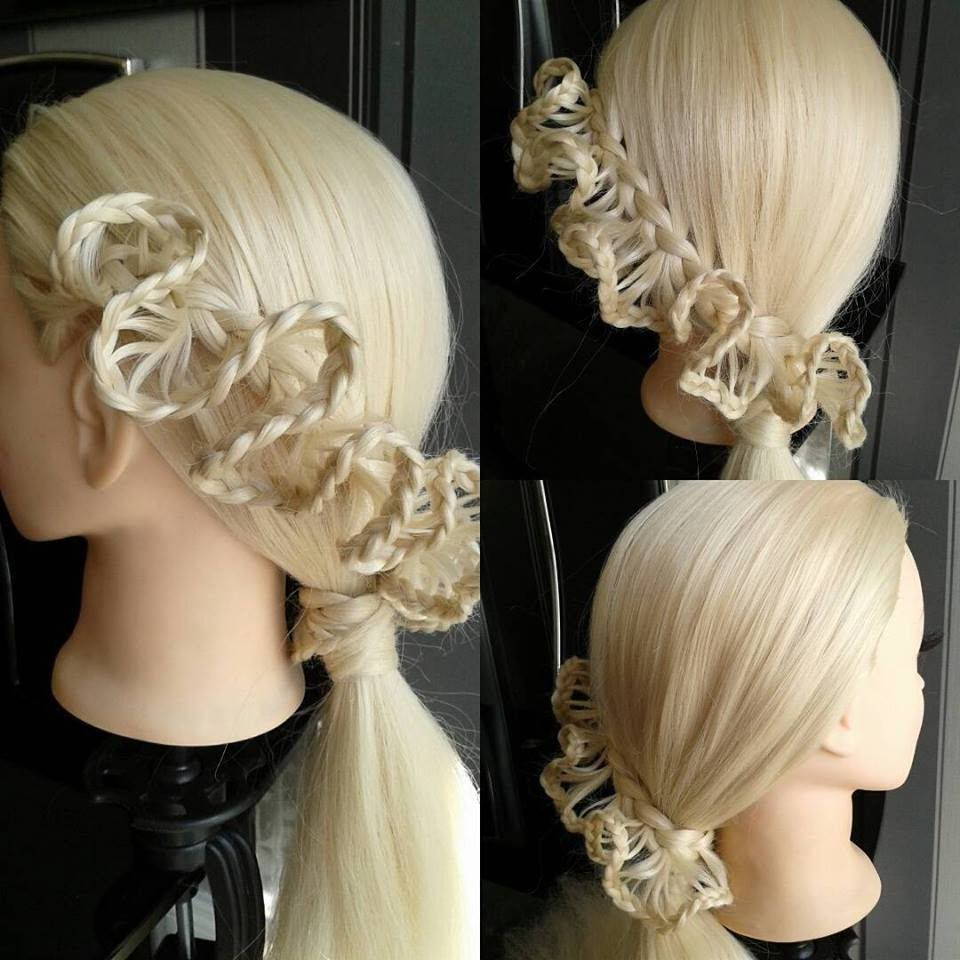 D frill lacebraid hair tutorial hairglamour haarideen