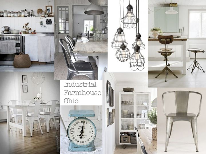 Tin Roof Farmhouse Industrial Farmhouse Chic kitchen Kitchens