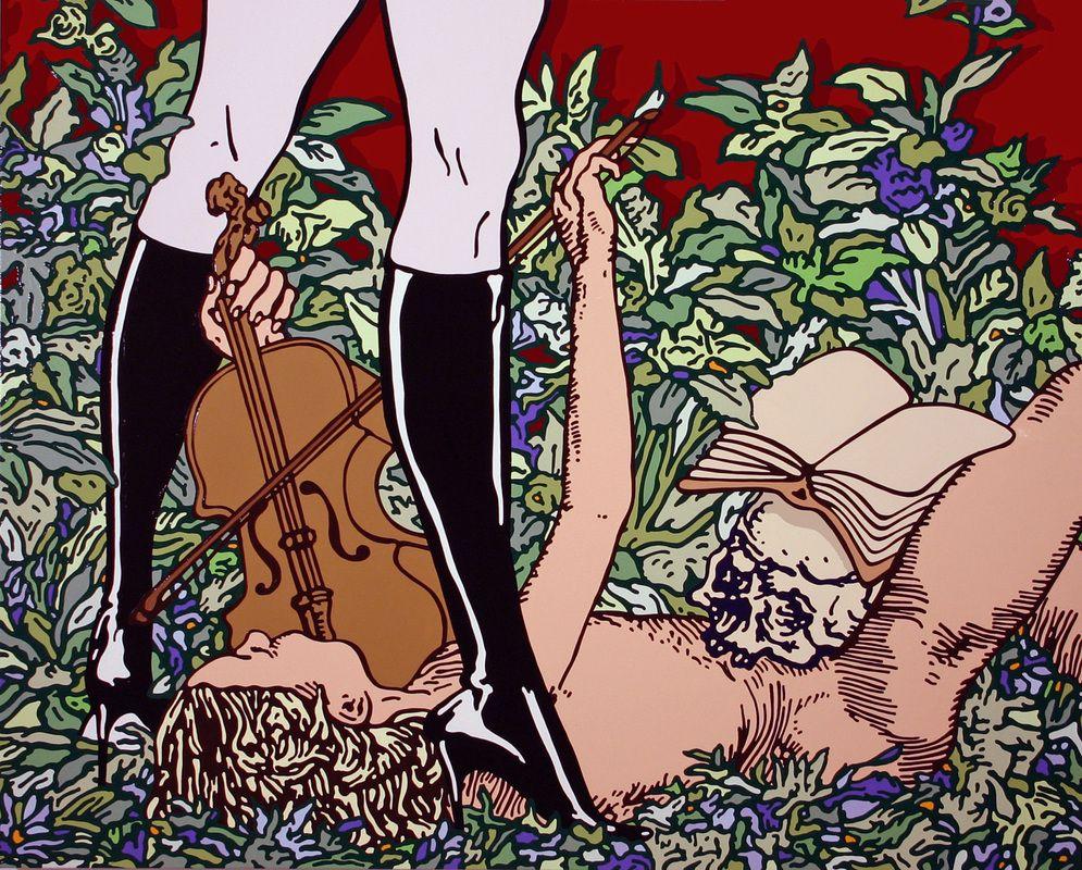 "Gabriele Arruzzo, ""senza titolo (serenade)"", enamel and acrylic on canvas, 120x150cm, 2006 #gabrielearruzzo #art #painting"