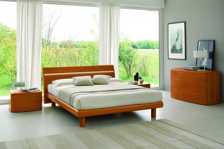Basic Modern Cherry Italian Bed Temperatur Schlafzimmer