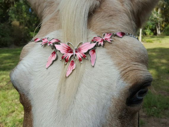 Easter gifts 14 by gicreazioni on etsy my style pinterest pink and white flower garden browband for horses equine bling tack brow band jewelry horse lover gift negle Gallery