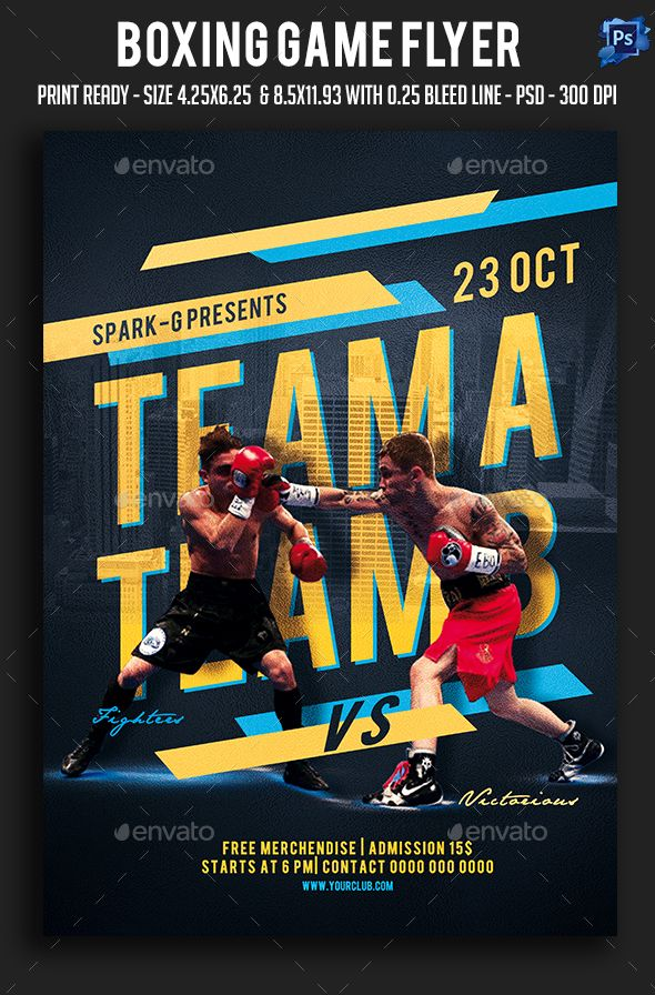 Boxing Game Flyer Flyer Template Template And Box