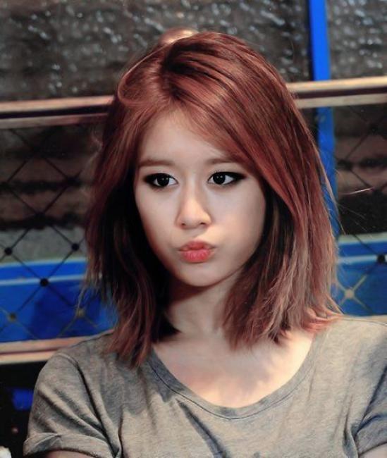 Korea Korean Kpop Idol Group Band Tara T Ara Jiyeon S Lob Hairstyle Messy Long Bob Haircut Hairstyles For Kpopstuff
