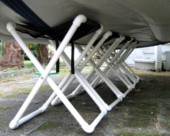 Delphin Dinghy on 5 folding stands | hobie | Pinterest | Kayak stand