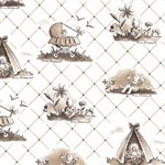 Toile de Bebe  Featuring the artwork of Anne-Marie Bossaert, grandmother to Cloud9 Fabrics' co-owner, Michelle Engel Bencsko. Anne-Marie illustrated   countless images featuring infants, fairy tales and religious themes for  publications during WWII in Belgium and France.   http://paperthreadfabrics.com