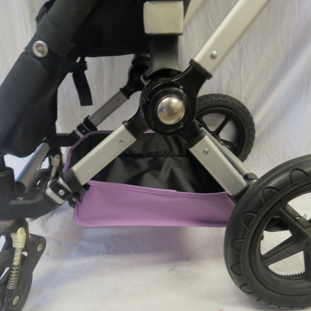 Purple Under Seat Storage Basket for Bugaboo Cameleon 1 2 3 Frog Baby Strollers