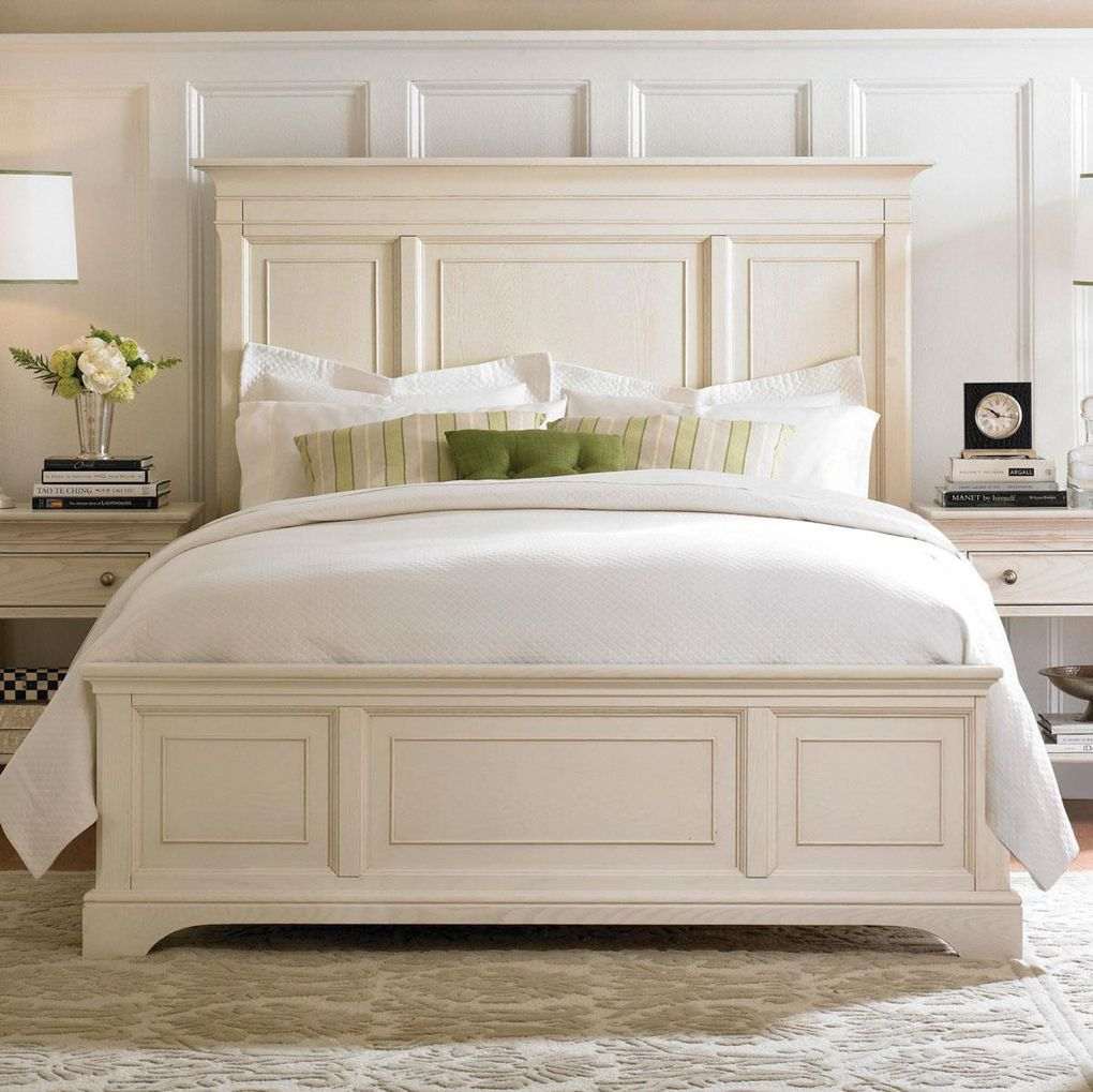 white panel bed King bed frame, Panel bed frames, Queen