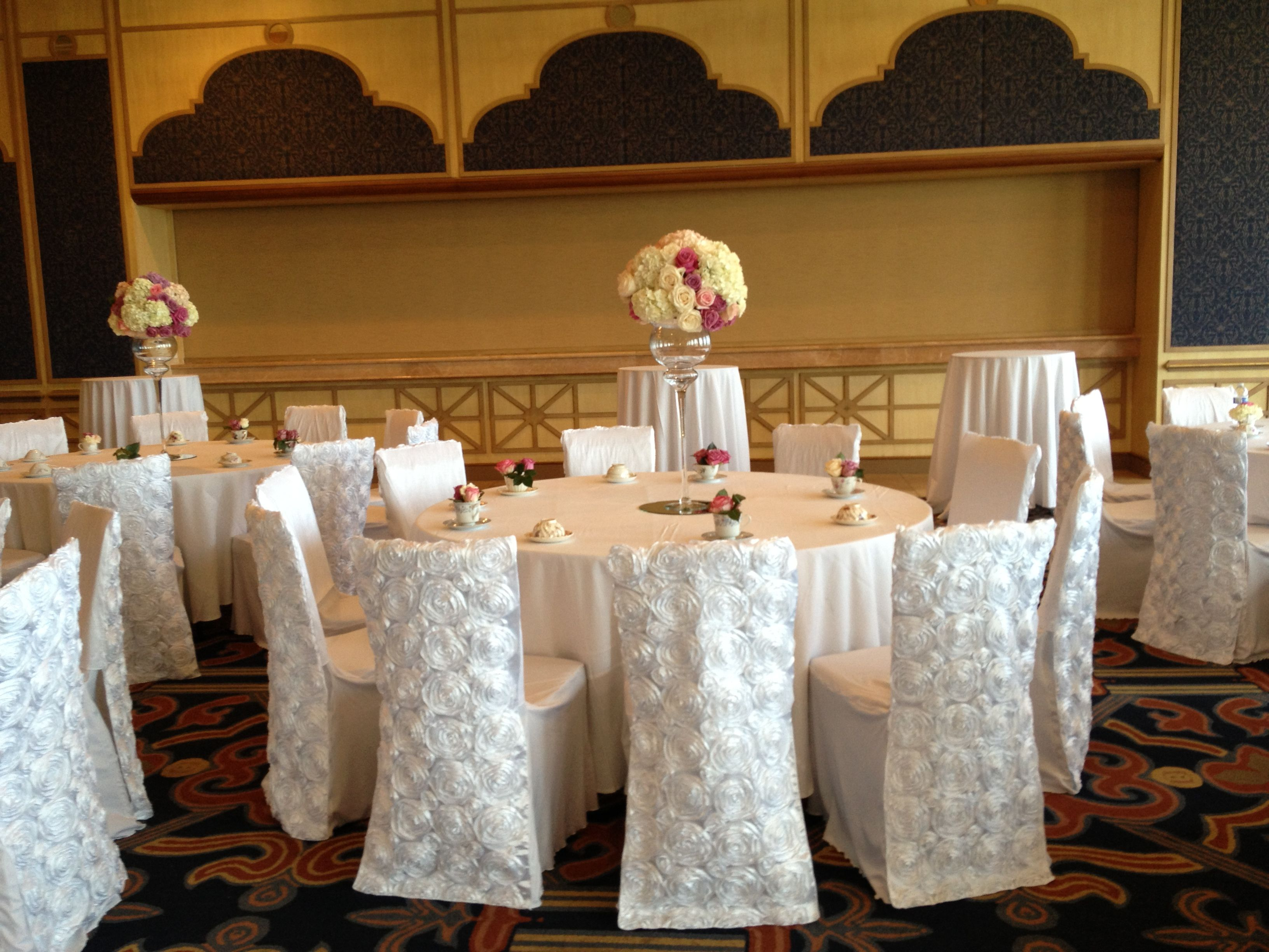 Wondrous White Linens White Rose Back Chair Covers Lavender Accents Theyellowbook Wood Chair Design Ideas Theyellowbookinfo