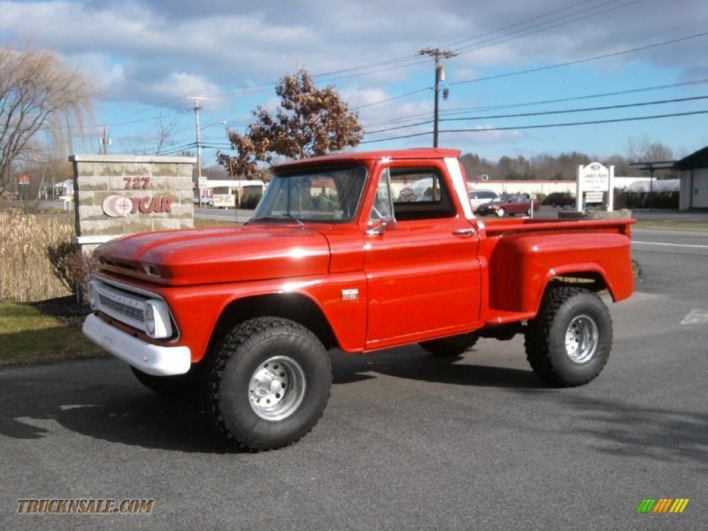 Classic dually trucks for sale 1966 chevrolet c k k10 4x4 in red