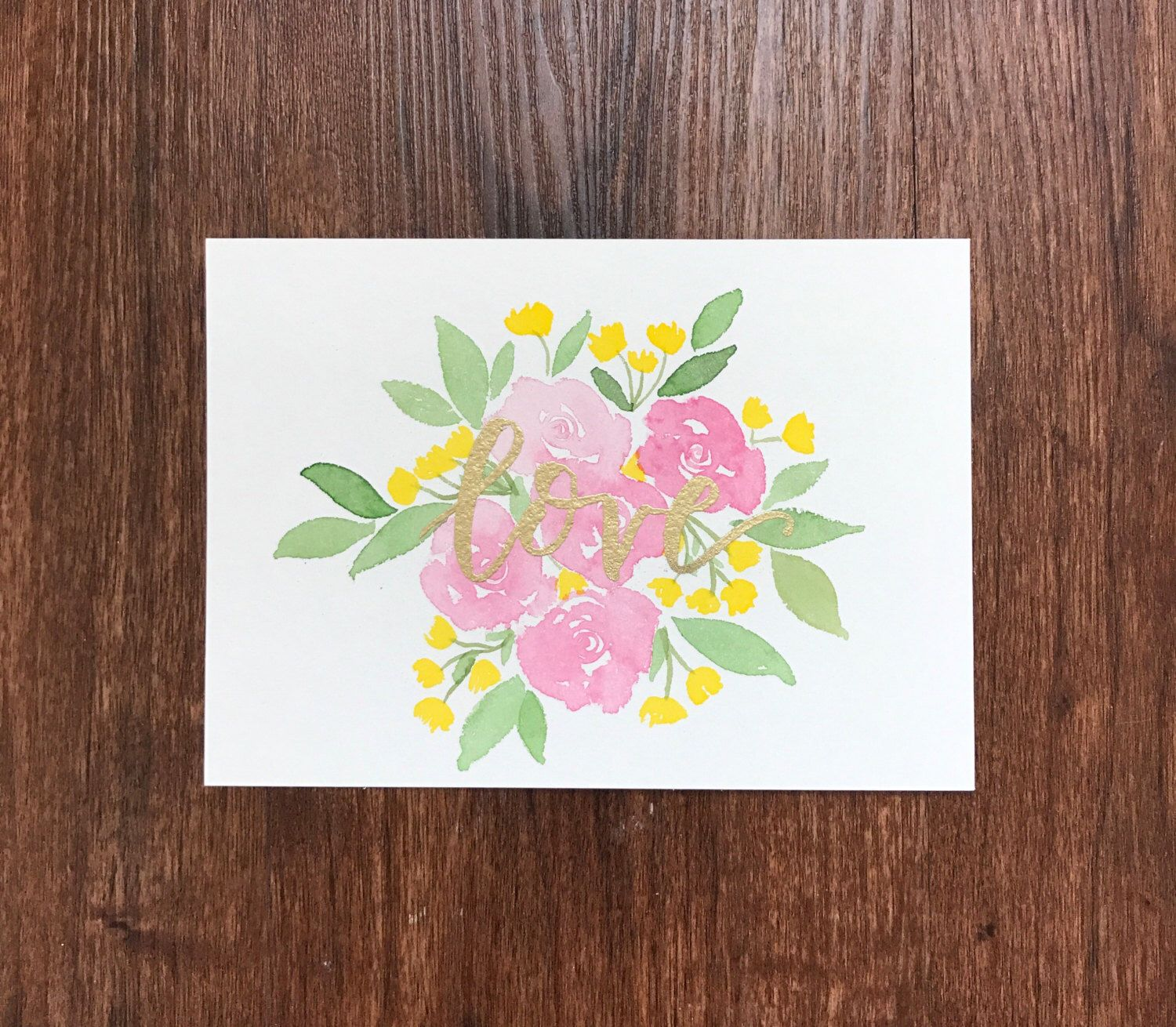 Love Floral Watercolor Art | watercolor print by CharliePeaDesigns on Etsy https://www.etsy.com/listing/475471118/love-floral-watercolor-art-watercolor