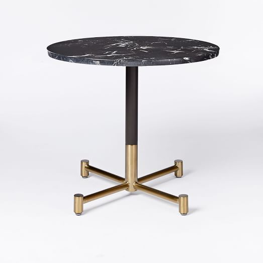 Black Marble Round Bistro Table Branch Base Bistro Table Marble Tables Design Marble Table