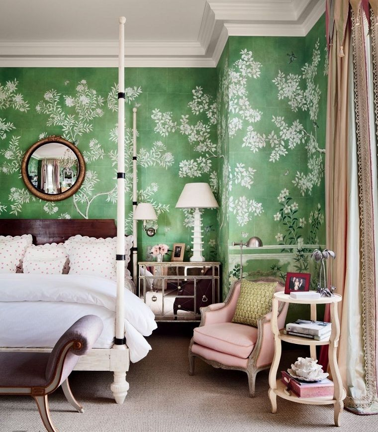 Modische Farben für das Schlafzimmer Betrachten Sie die
