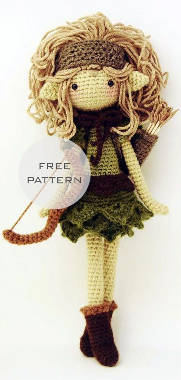 Amigurumi Doll Free Pattern #crochetdoll