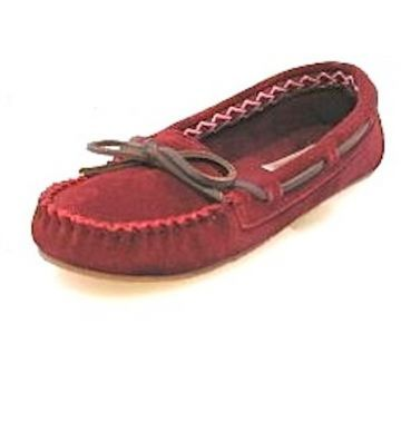 eba5e13d6cdf Womens Collection    Foamtreads Everyday    Cadence - Red Suede Moccasin  Slipper - Foamtreads - Canada s Premier Slipper brand for Men