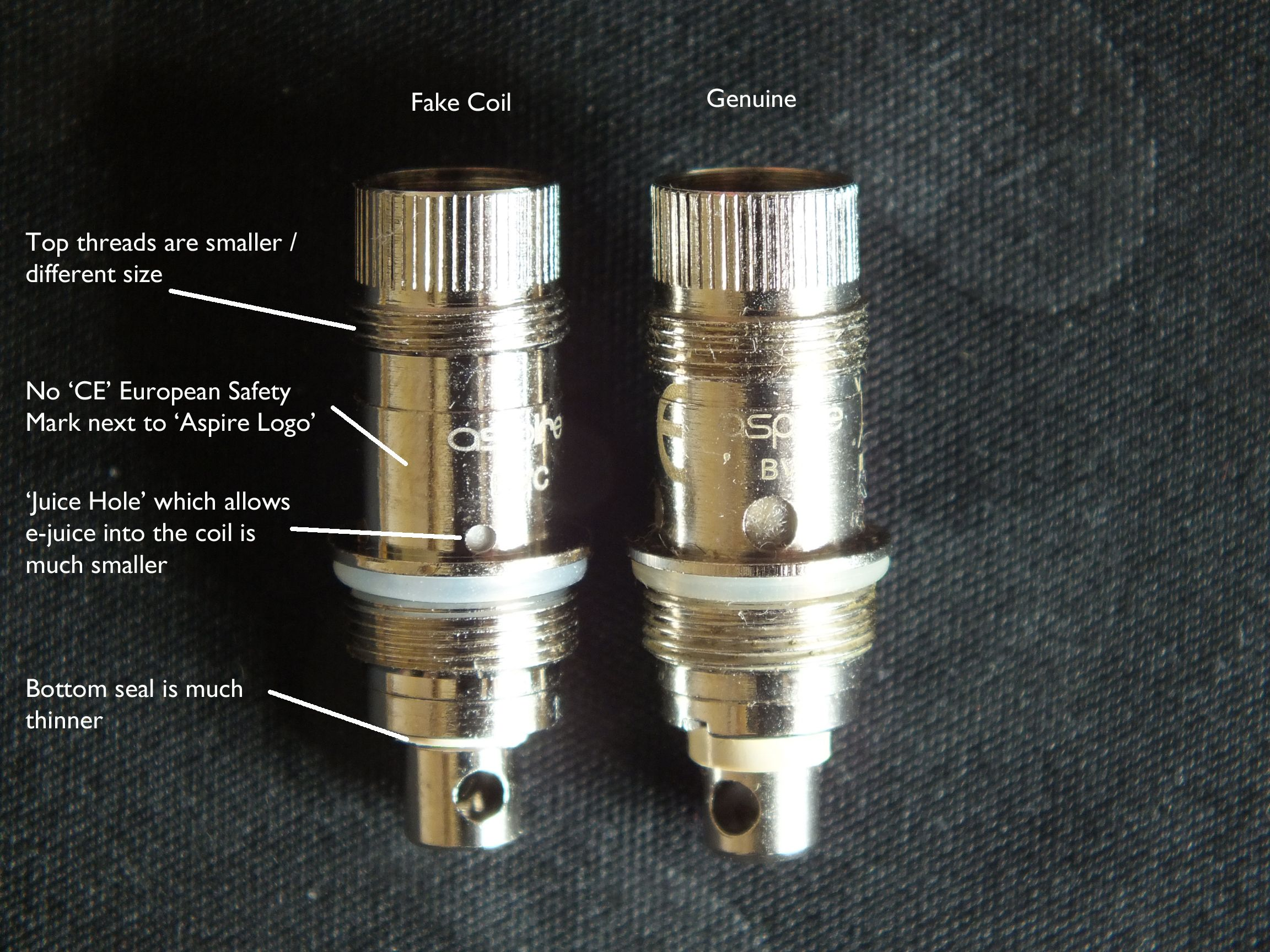 How to spot a fake Aspire coil  Uploaded by User  | Vaping