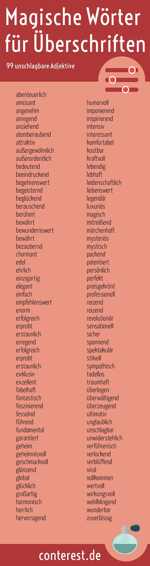 99 Magische Wörter für unschlagbare Überschriften. Wie du