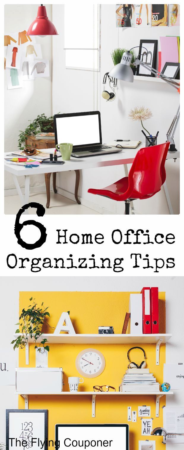 Home office organizing tips do it yourself today pinterest 6 home office organizing tips create a neat and organized home office space design styling diy the flying couponer family travel saving money solutioingenieria Choice Image