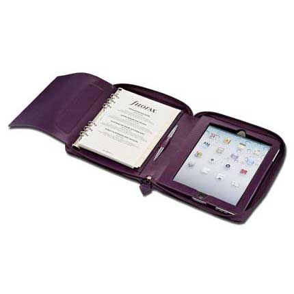 Filofax A5 Pennybridge Organiser. Purple. The secure zip-around fastener makes sure that the contents of your Filofax stay safely inside your Filofax. Includes a completely functioning purse/wallet area inside the organiser. Size: 226mm x 259mm.