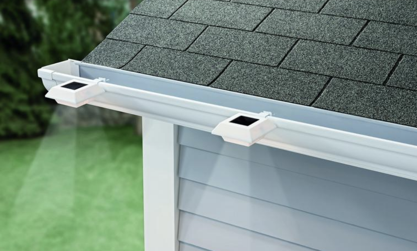 Home Depot Is Selling Solar Powered Lights That Attach Right To Your Gutter Solar Powered Lights Solar Panels Solar Power