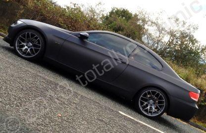 Bmw 3 Series Coupe Fully Wrapped In A Matt Metallic Black Vinyl Car