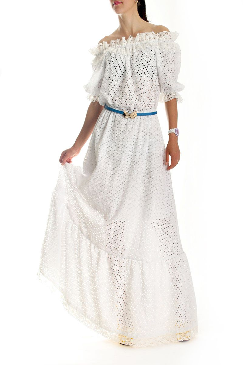 267c2562061 Платье Dolce amp Gabbana. Белое платье в пол с вышивкой. Длинное белое  платье на
