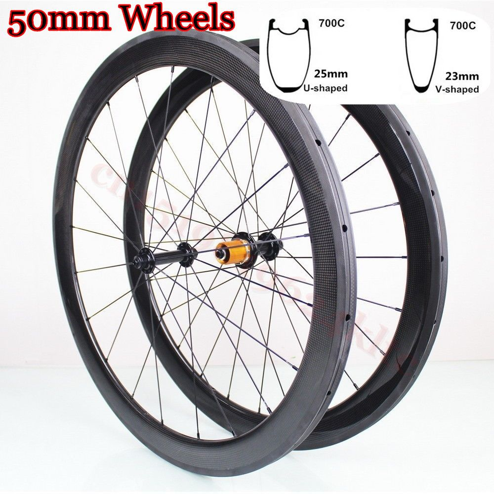 700c Carbon Aero Wheel 38mm 50mm 60mm 88mm Tubular Clincher 23mm
