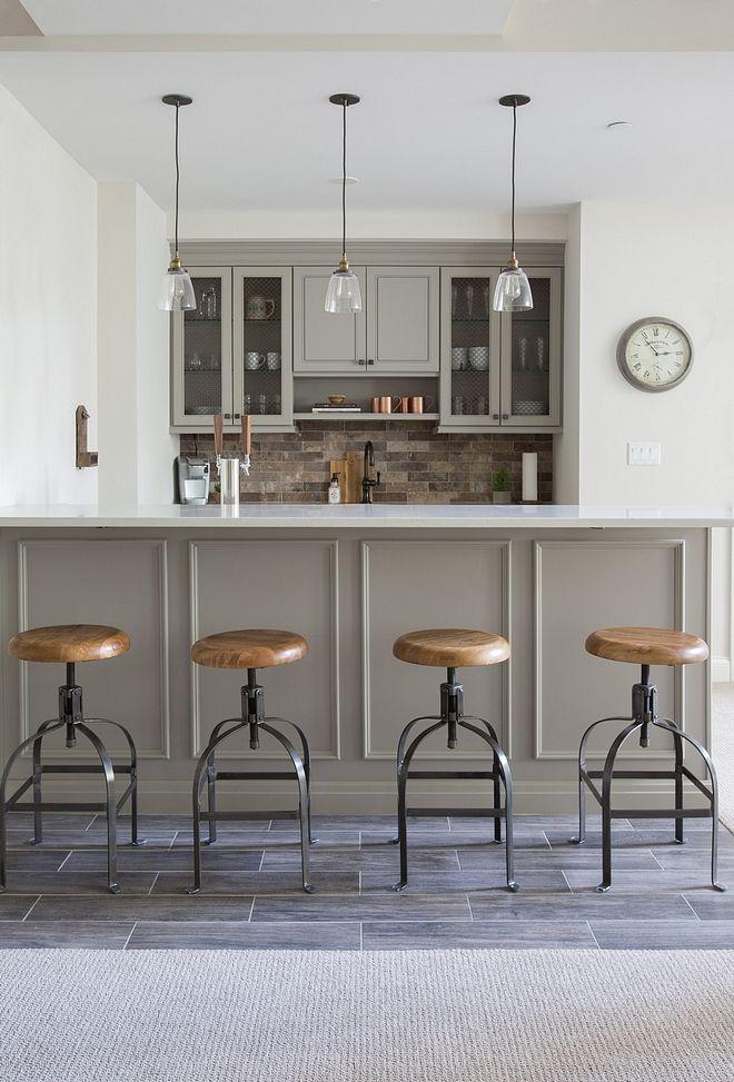 basement features a grey bar brick style backsplash and on basement bar paint colors id=63806