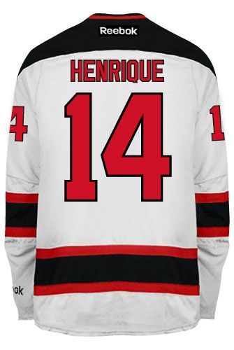 New Jersey Devils Adam HENRIQUE  14 Official Away Reebok Premier Replica  NHL Hockey Jersey (HAND SEWN CUSTOMIZATION) 5c8cbcd83