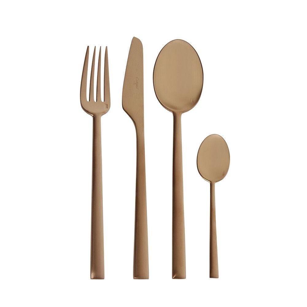 Rondo 24 Piece Flatware Set - Matt Copper | Copper cutlery, Cutlery ...