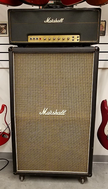 Marshall 1987 50w Head Matching 2034 8x10 Speaker Cabinet 1972 Marshall 1987 50w Head Matching 2034 8 10 Spea In 2020 Marshall Marshall Amps Vintage Guitar Amps