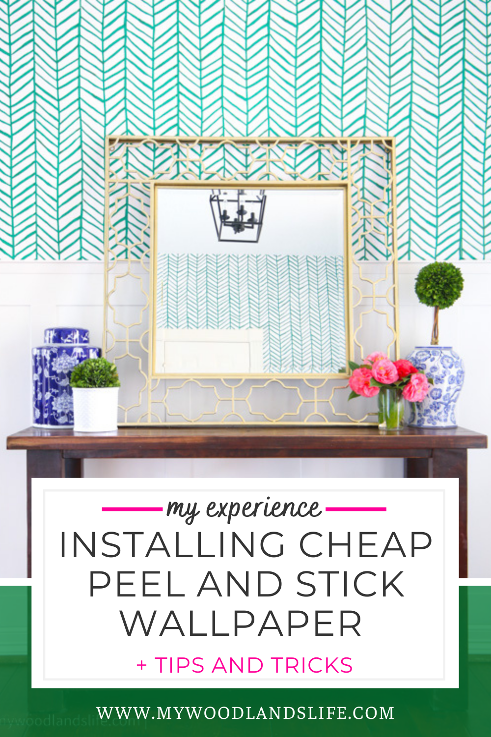 My Experience With Peel And Stick Wallpaper Tips And Tricks My Woodlands Life In 2021 Peel And Stick Wallpaper Wallpaper Life Blogs