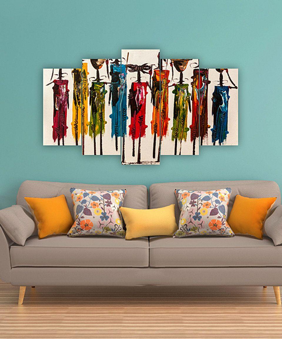 Carsberg home abstract figures fivepanel wall art panel walls