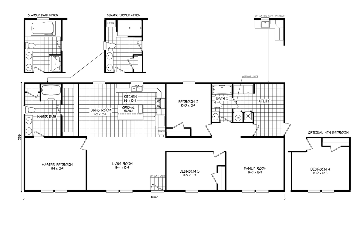 4620 957 Park Avenue 6428 Oakwood Homes Mobile Home Floor Plans Floor Plans