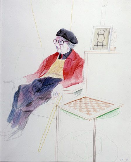David Hockney, A Drawing Retrospective | a r t | Pinterest | David ...