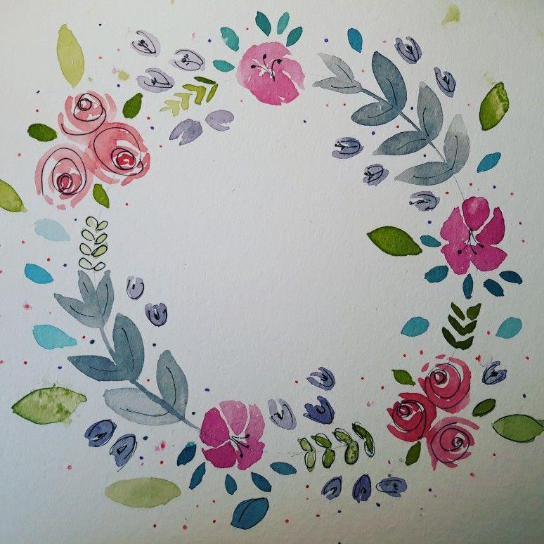 La Couronne Aquarelle A L Occasion Du Defi Fleurs Aquarelle Des