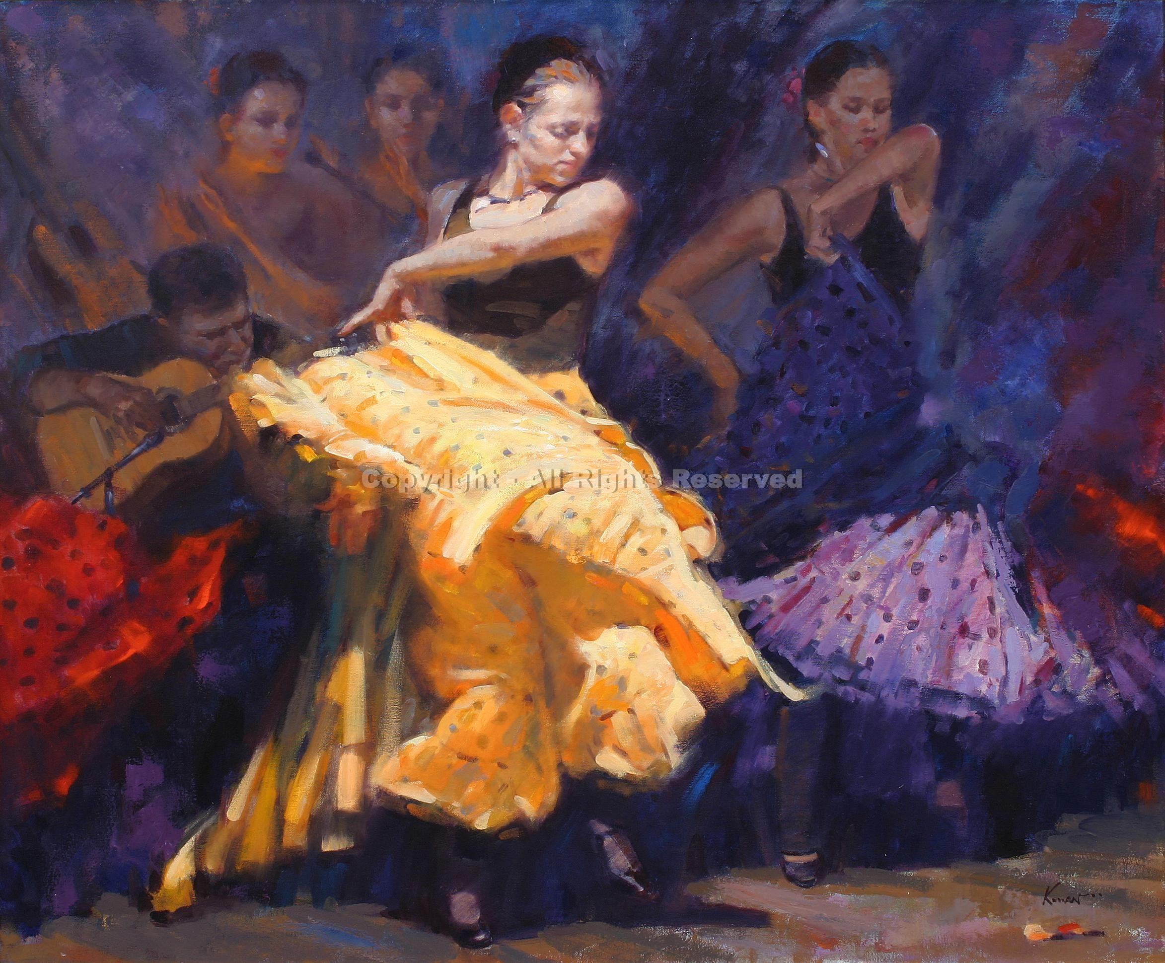 Spanish Dancers Flamenco, Artes, Dança