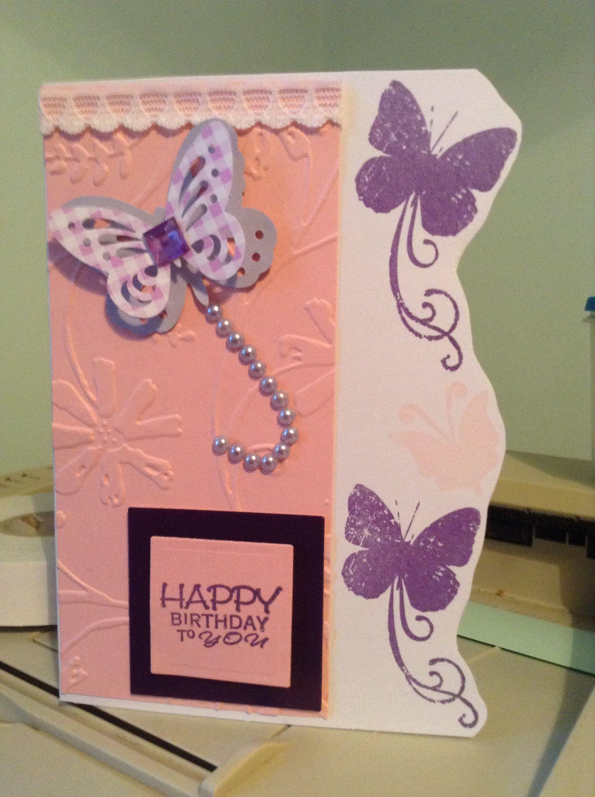 Butterfly Birthday Card Cards I Ve Made Pinterest Butterflies