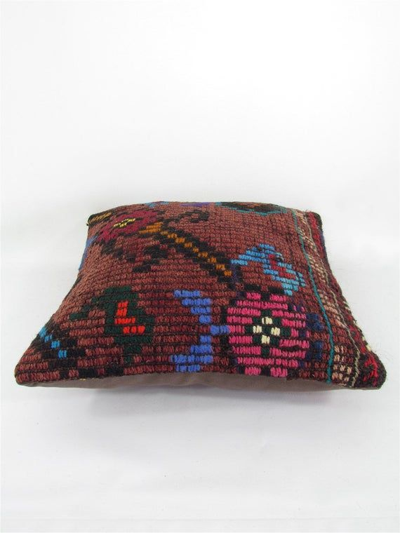Decorative Throw Pillow Kilim Pillow Cover 16x16 - Home Decor Chair Pillow Cover Boho Pillow Case mo