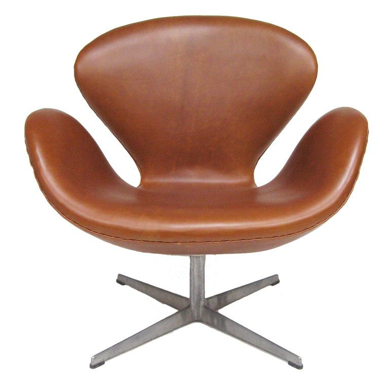 arne jacobsen swan chair in cognac leather by fritz hansen swan chair chairs and leather. Black Bedroom Furniture Sets. Home Design Ideas