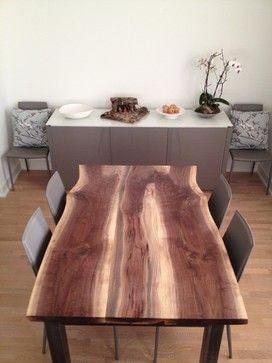Magnificent Black Walnut Live Edge Dining Table Modern Dining Tables Download Free Architecture Designs Licukmadebymaigaardcom