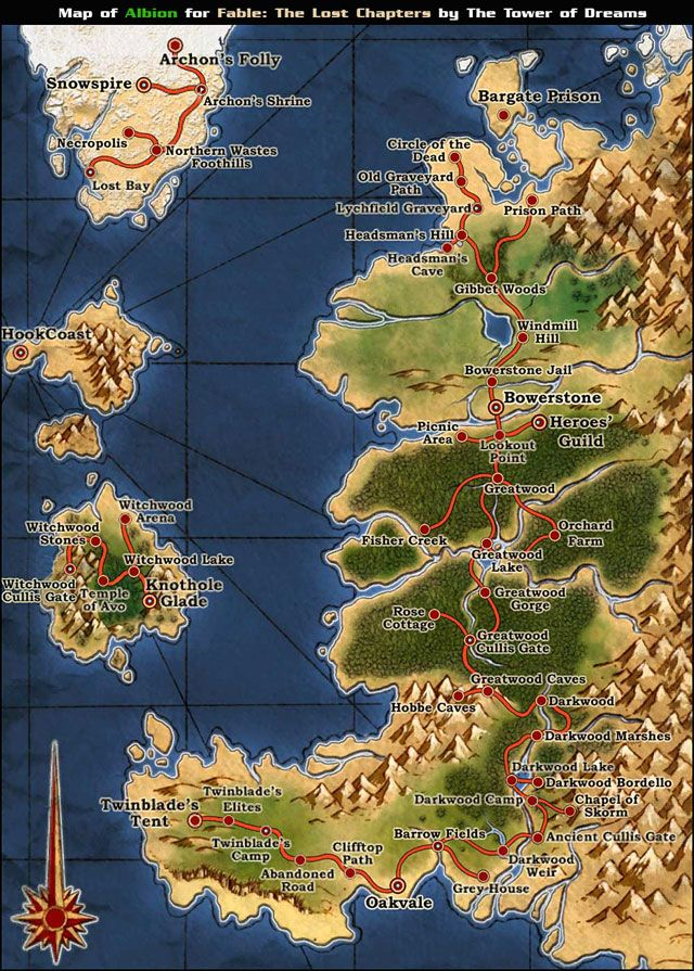 Albion World Map - Fable: The Lost Chapters - Game Guide and ...