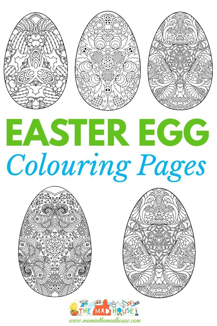 Adult Easter Colouring Pages Intricate Eggs Easter