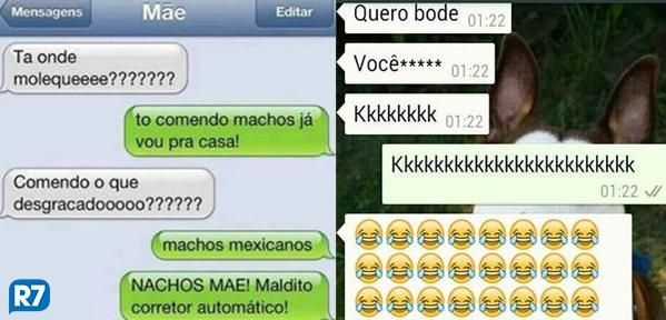 Quando o corretor ortográfica se engana, é só risada! Veja situações engraçadas no Whatsapp: http://r7.com/B5ZG